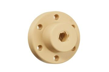 drylin® high helix thread nut with flange, J350FRM