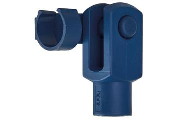 Clevis joint with spring-loaded fixing clip, detectable, GERMF-DT, igubal®