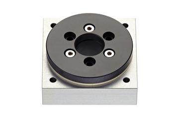 iglidur® slewing ring, PRT-01, square flange, sliding elements made from iglidur® J