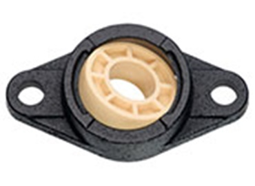 Pillow block and fixed flange bearings with low-cost metallic housing